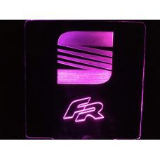 Seat - plexiglas diode skilt