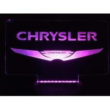 Chrysler -  Plexiglas diodeskilt