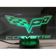 Corvette-Plexiglas Diodeskilt
