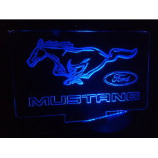 Mustang-Plexiglas Diodeskilt