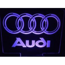 Audi - Plexiglas diodeskilt